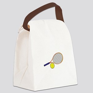 Tennis Racquet and Ball Canvas Lunch Bag