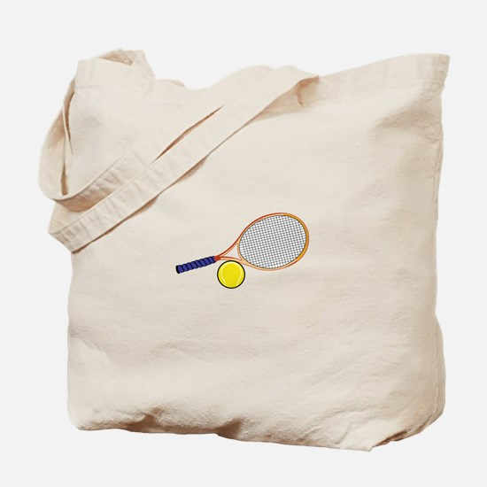 Tennis Racquet and Ball Tote Bag