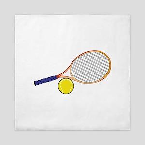 Tennis Racquet and Ball Queen Duvet