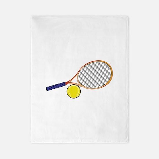 Tennis Racquet and Ball Twin Duvet