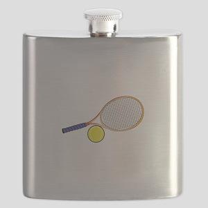 Tennis Racquet and Ball Flask