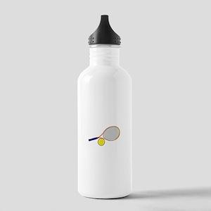 Tennis Racquet and Ball Water Bottle