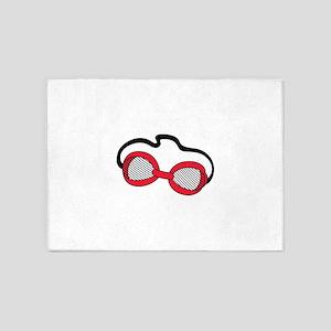 Swim Goggles 5'x7'Area Rug