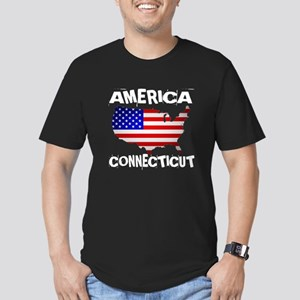 Connecticut American S Men's Fitted T-Shirt (dark)