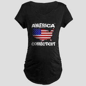 Connecticut American State Maternity Dark T-Shirt