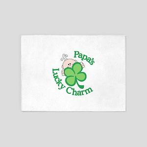 Papa's Lucky Charm 5'x7'Area Rug