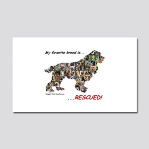 My Favorite Breed Is Rescued Car Magnet 20 x 12