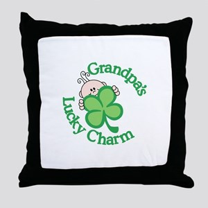 Grandpa's Lucky Charm Throw Pillow