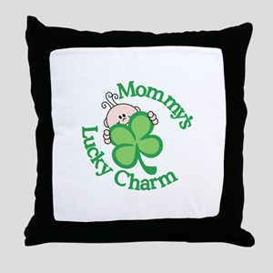 Mommy's Lucky Charm Throw Pillow