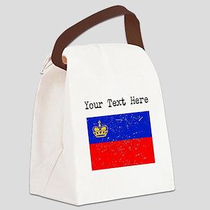 Liechtenstein Flag (Distressed) Canvas Lunch Bag