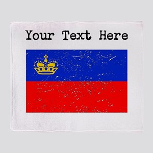 Liechtenstein Flag (Distressed) Throw Blanket