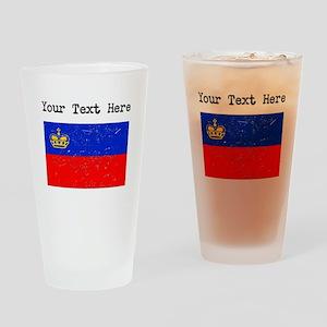 Liechtenstein Flag (Distressed) Drinking Glass