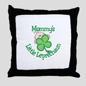 Mommy's Little Leprechaun Throw Pillow