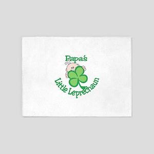 Papa's Little Leprechaun 5'x7'Area Rug