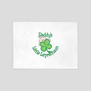 Daddy's Little Leprechaun 5'x7'Area Rug
