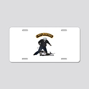 Calf Roping-2 with Text Aluminum License Plate