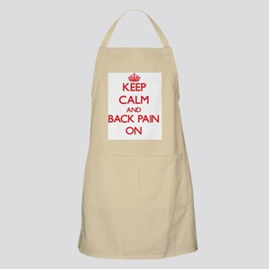 Keep Calm and Back Pain ON Apron