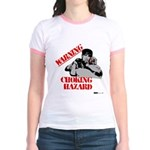 Warning Choking Hazard Jr. Ringer T-Shirt
