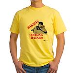 Warning Choking Hazard Yellow T-Shirt