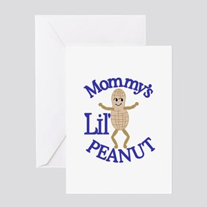 Mommy's Lil' Peanut Greeting Cards