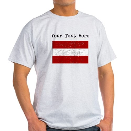 Latvia Flag (Distressed) T-Shirt