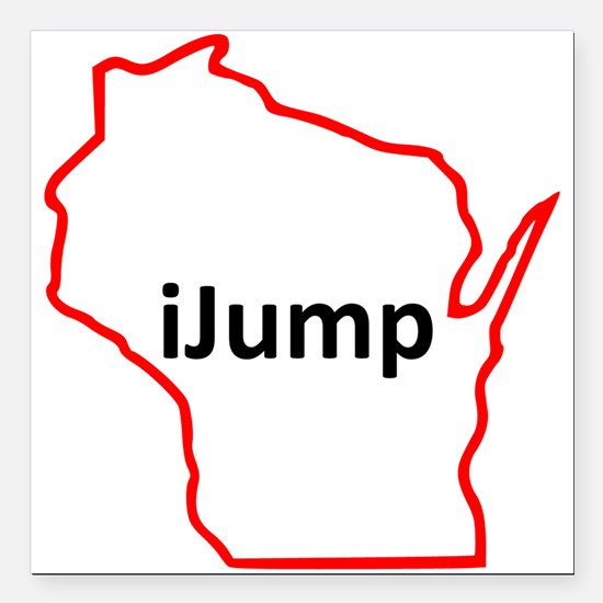"iJump Square Car Magnet 3"" x 3"""