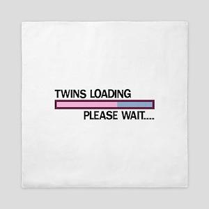 Twins Loading Please Wait... Queen Duvet