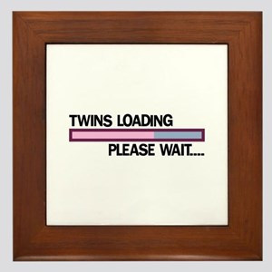 Twins Loading Please Wait... Framed Tile