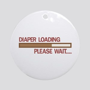 Diaper Loading Please Wait.... Ornament (Round)