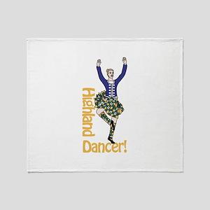 Highland Dancer Throw Blanket