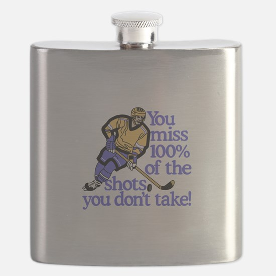 100% Of The Shots Flask