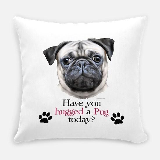 Pug Hug Everyday Pillow