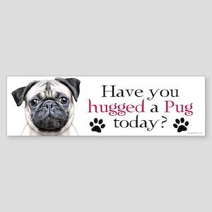 Pug Hug Sticker (Bumper)