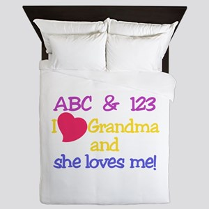 Grandma And She Loves Me! Queen Duvet