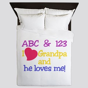 Grandpa And He Loves Me! Queen Duvet