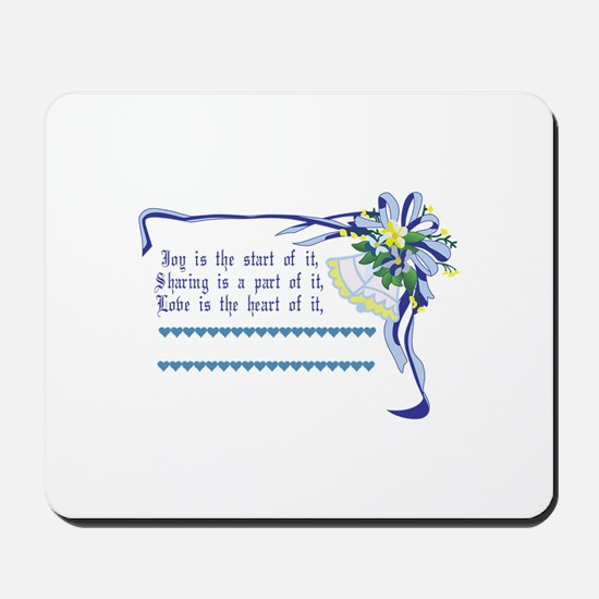 Wedding Blessing Mousepad
