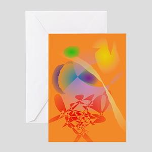 Orange Composition Greeting Cards