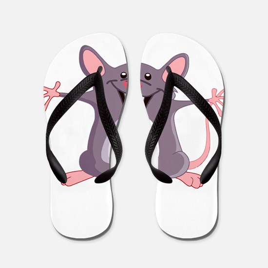 Happy Greeter Mouse Flip Flops