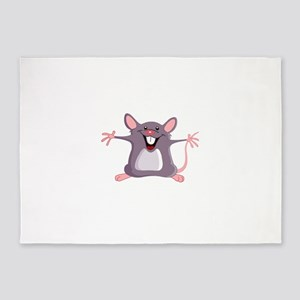 Happy Greeter Mouse 5'x7'Area Rug
