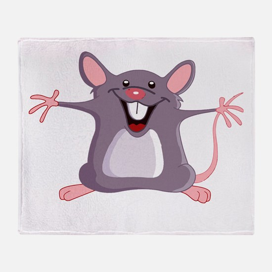 Happy Greeter Mouse Throw Blanket