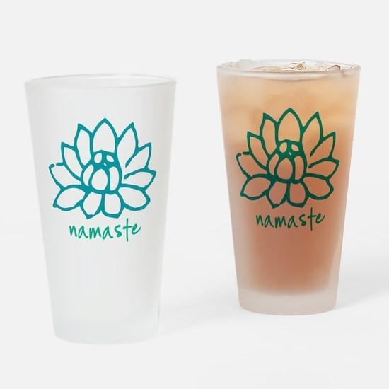 Namaste Lotus Drinking Glass