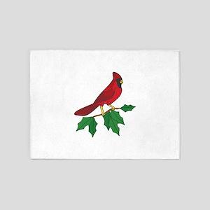 Cardinal On Holly 5'x7'Area Rug