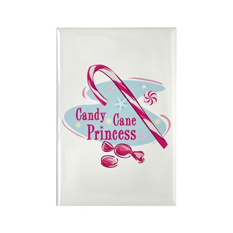 Candy Cane Princess Rectangle Magnet (10 pack)