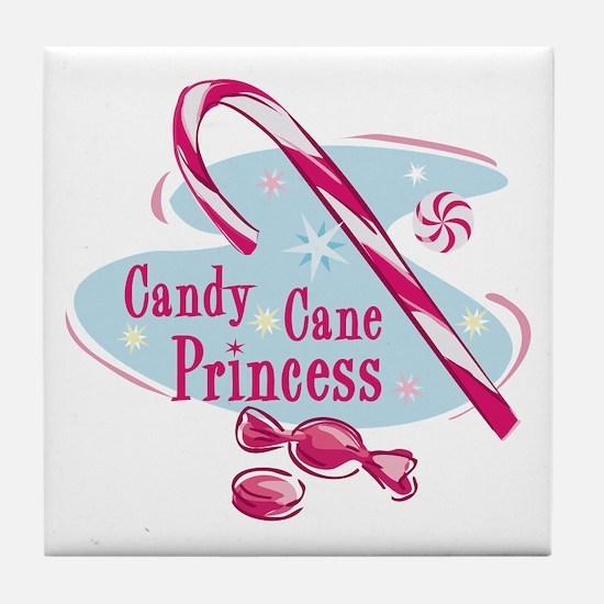 Candy Cane Princess Tile Coaster