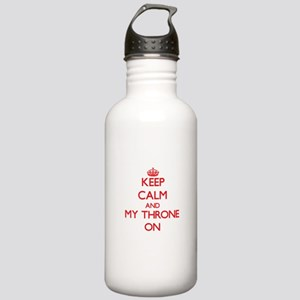 Keep Calm and Bacteria Stainless Water Bottle 1.0L
