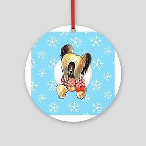 Briard Let it Snow Ornament (Round)