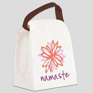Namaste Flower Canvas Lunch Bag