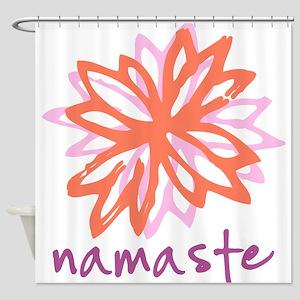 Namaste Flower Shower Curtain