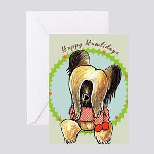 Briard Happy Howlidays Greeting Card