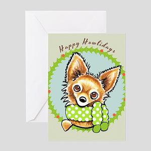LH Chihuahua Happy Howlidays Greeting Card